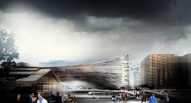 общий вид комплекса для газеты Ле Монд, Снохетта