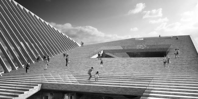 Лестница-крыша в музее Людвига, Будапешт. проект Snohetta