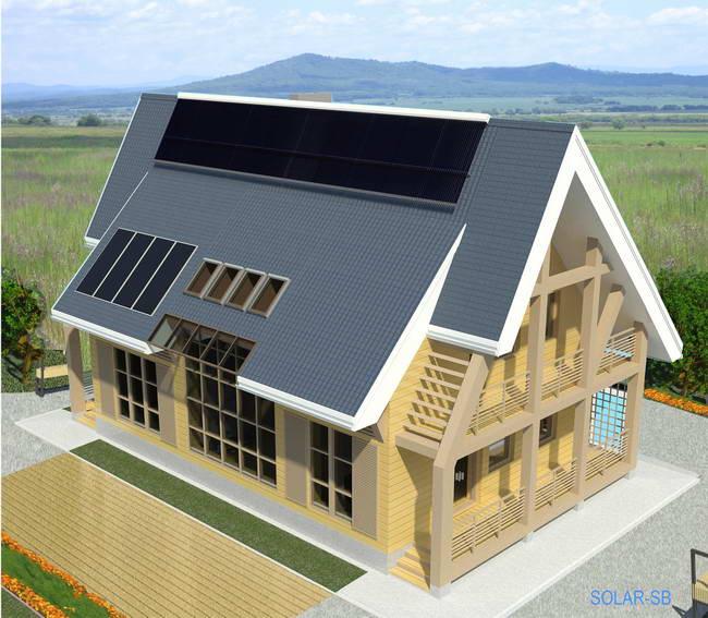 загородный дом из соломенных панелей