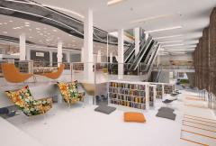 читальный зал в историческом здании