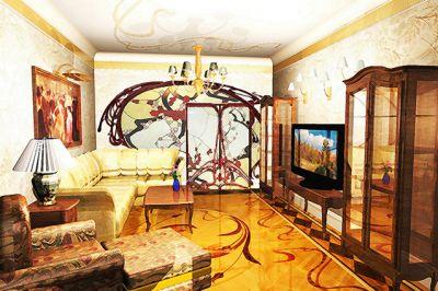 гостиная в стиле ар деко