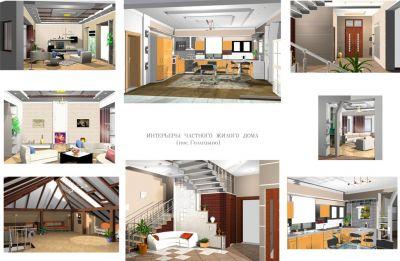 интерьеры частного жилого дома