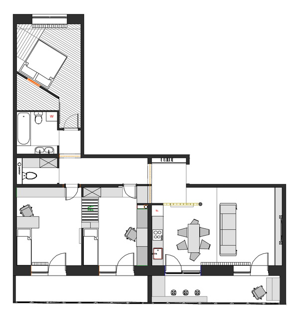 1000 Images About Hp House Plan L Shape On Pinterest