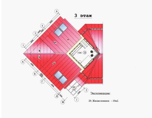 план коттеджа с деревянным каркасомю Проект архитектора Александра Легконогова.