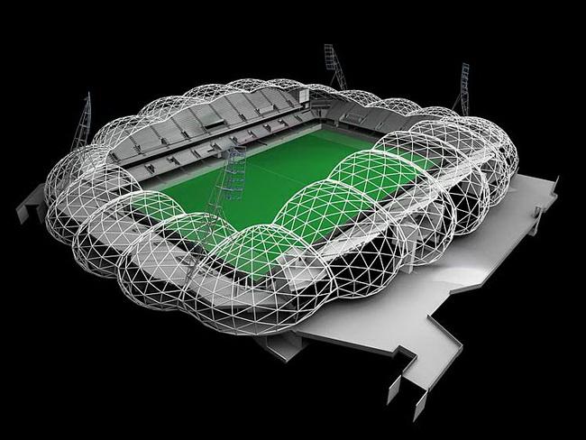 2. Стадион Rectangular Pitch Stadium, Мельбурн, Австралия, архитекторы COX Architects, конструкция и инженерия – ARUP