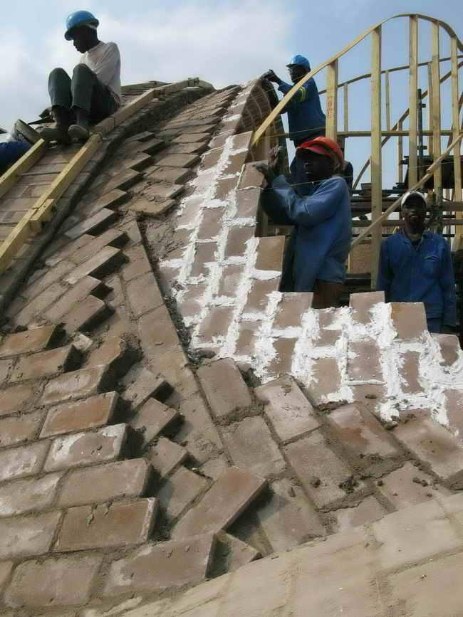 Как сделать купол из кирпича