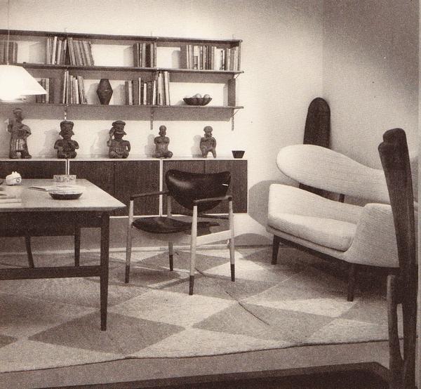 диван, дизайн Юля для Baker на выставочном стенде, 1951 г.