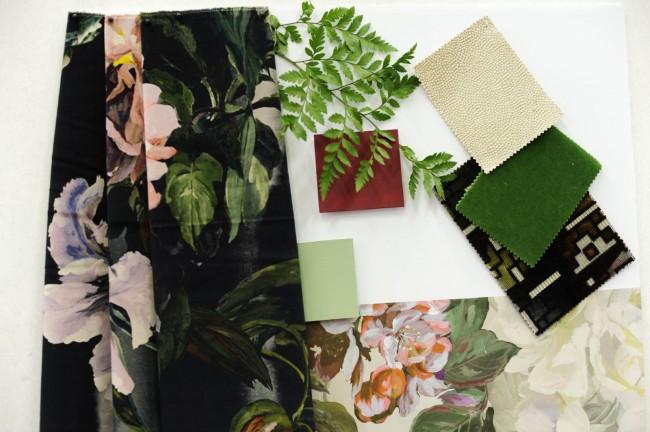 ткани с цветочным принтом, дизайн Триши Гид