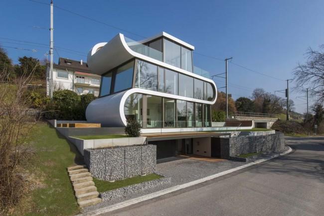 дом Flexhause на берегу озера Цюрих