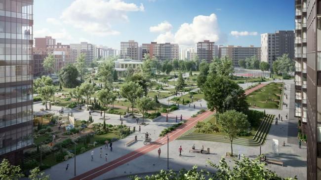 Общий вид, перспектива Ligovski City