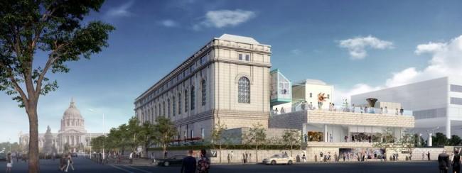 фасад павильона в Музее искусства Азии, Сан Франциско