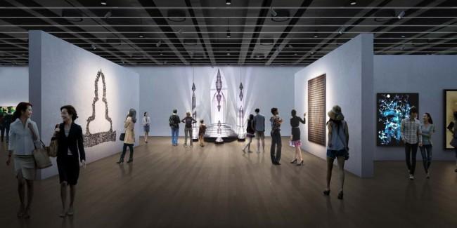 интерьер павильона, выставочное пространство