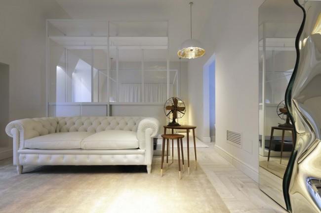 Интерьер Белая ночь, бутик Сальвиони в Милане