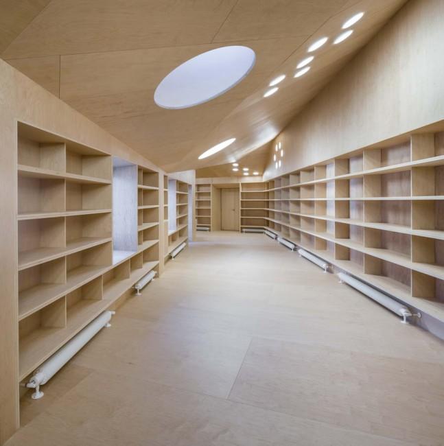 интерьер архива в библиотеке