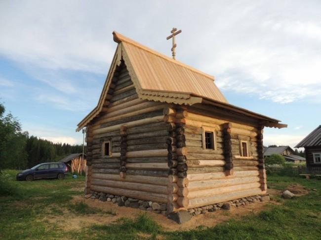 реставрация деревянной часовни