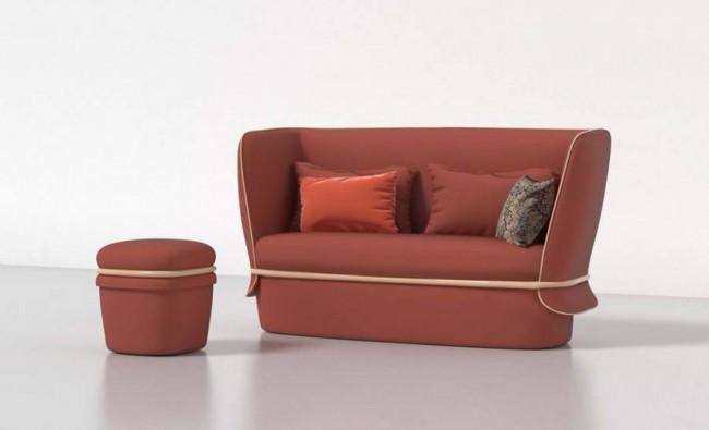 двухместный диван Chemise, дизайн Ilaria Innocenti и Giorgio Laboratore