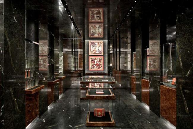 интерьер нового бутика Дольче и Габанна в Милане