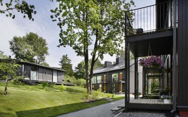 деревянные дома в Хельсинки, проект Konkret