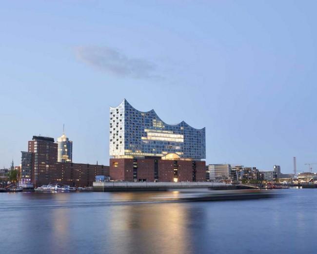 здание филармонии в Гамбурге, архитекторы Херцог и де Мирон