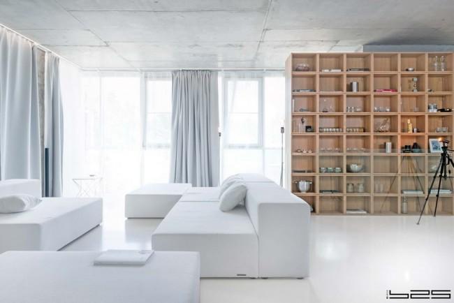 гостиная с модульными диванами