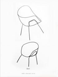 эскиз кресла, дизайнер Patrick Norguet