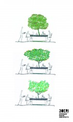 стол с деревом от Stefano Boeri Architetti