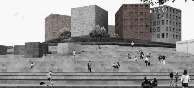 лестница к музею блокады