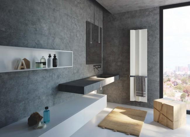 радиатор Android в интерьере ванной комнаты