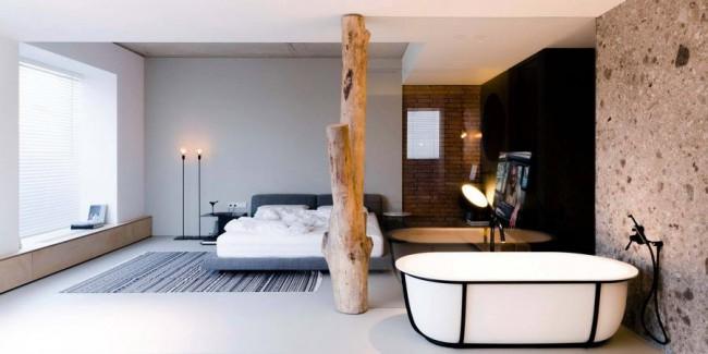 спальня в квартире Soft Loft