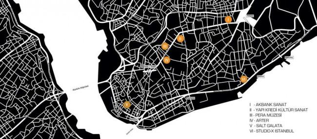 карта биеннале дизайна в Стамбуле