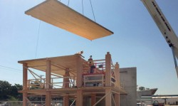 установка деревянных плит перекрытия