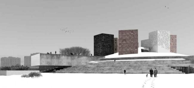 Музей блокады Ленинграда, вид зимой