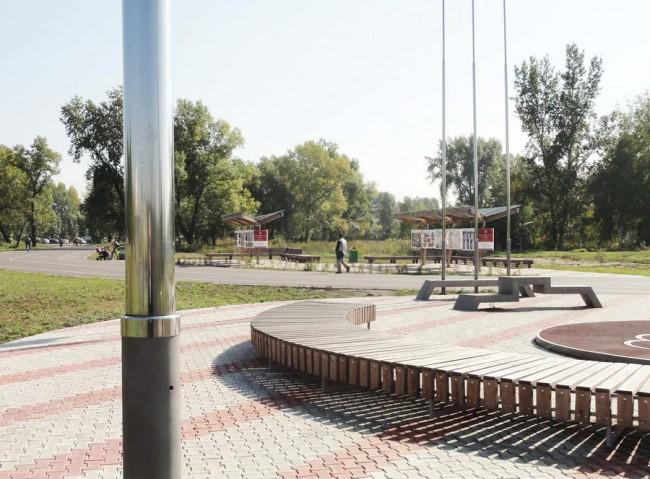 олимпийская площадка на острове Татышев