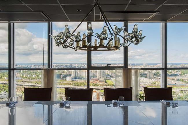 панорамный вид из окна ресторана