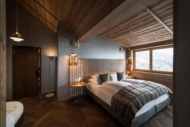 интерьер спальни в номере, пентхаус