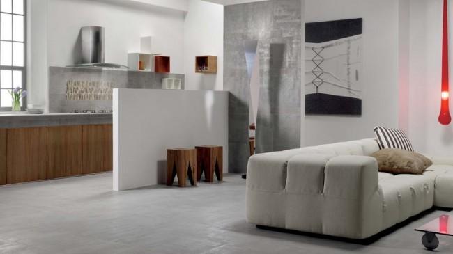 коллекция керамической плитки Reaction в интерьере кухни