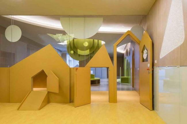 перегородка - домики в интерьере детского сада