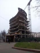 каркас здания в процессе строительства