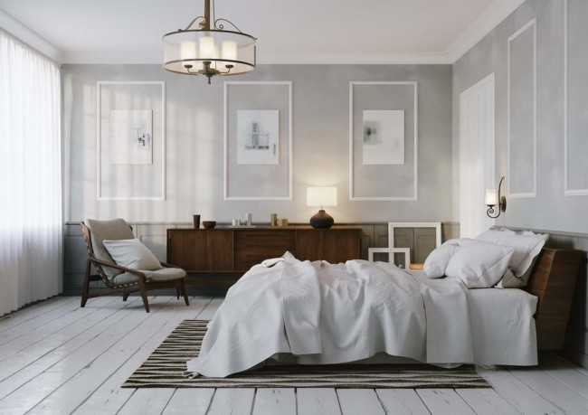 стеновые панели в интерьере спальни