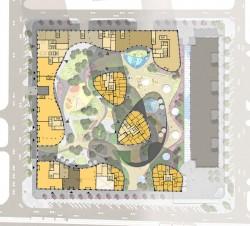 план первого этажа на верхнем уровне