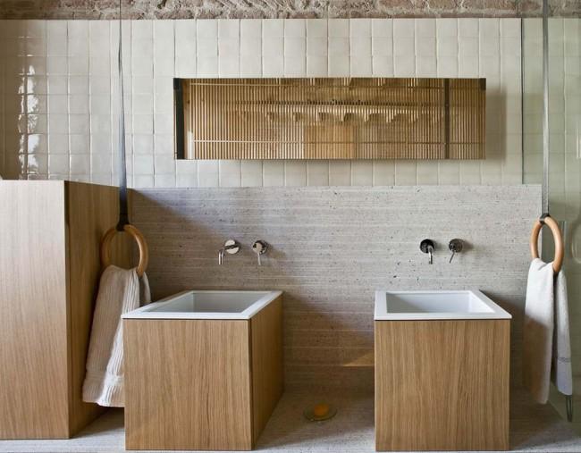 умывальники в интерьере ванной комнаты