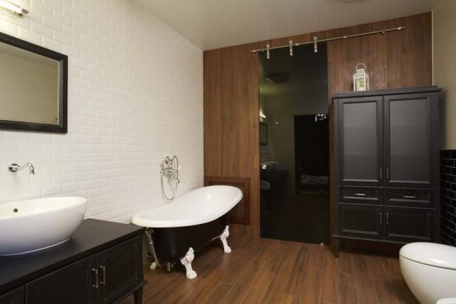 ванная комната в квартире на Котельнической набережной