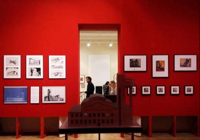 архитектурный авангард - фрагмент экспозиции