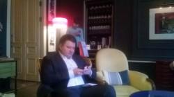 президент ФСК «Лидер» Владимир Воронин перед пресс-конференцией