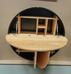 встроенный стол с полками разложенный