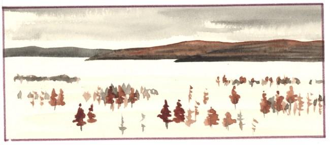 зимний пейзаж, Аркадий Тевьян