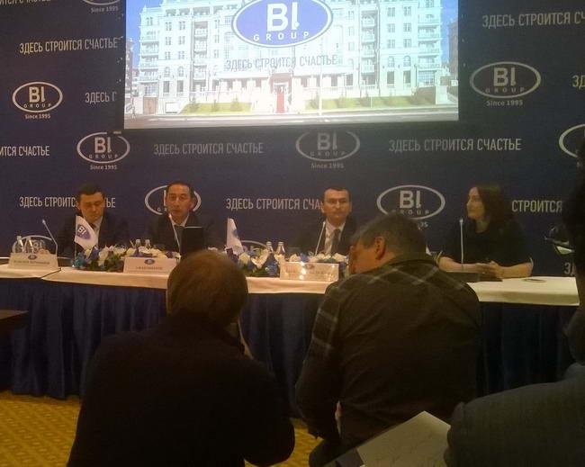 пресс конференция BI Group в Санкт Петербурге