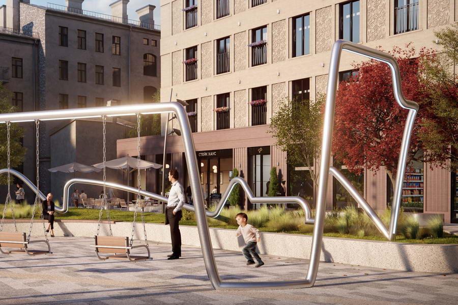детская площадка в двор в жилом комплексе «VEREN PLACE советская»