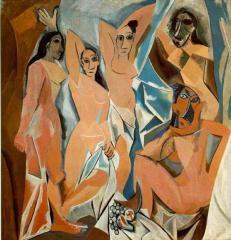 Пабло Пикассо, девушки из Авиньона, 1907 год