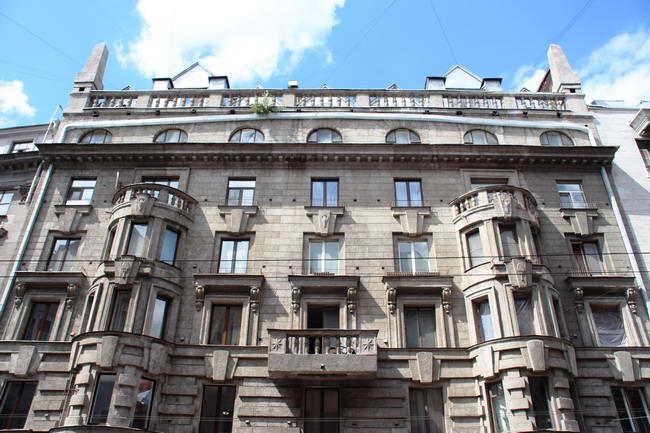 фасад дома гражданского инженера Гонцевич, архитектор Белогруд, 1914 г.